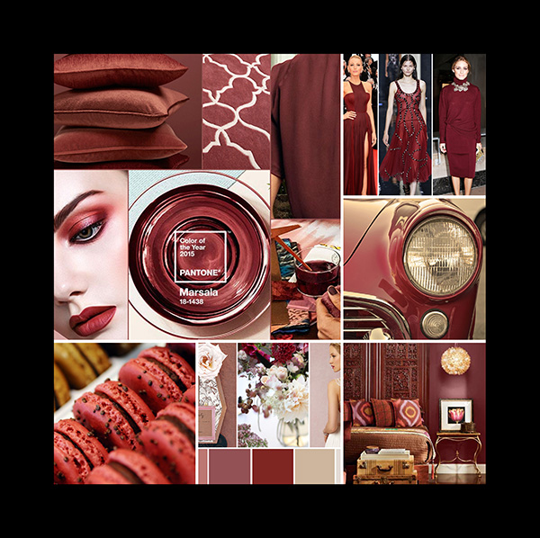 Inspiration board Marsala