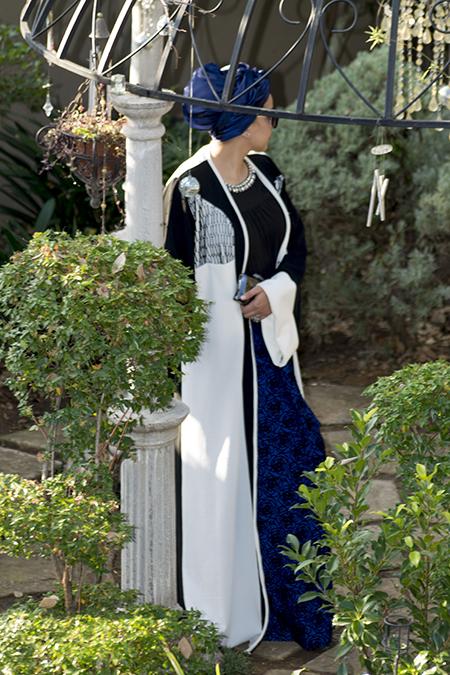 Monochrome abaya with blue skirt13 edit