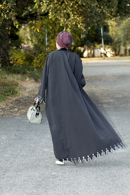 Pinstripe abaya with grey top08 edit