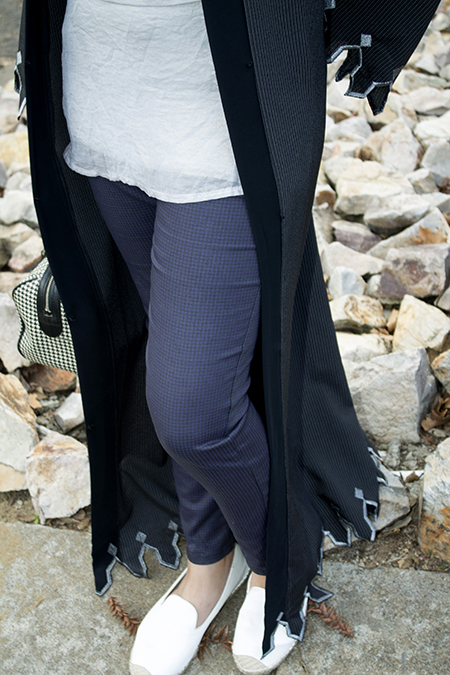Pinstripe abaya with grey top13 edit